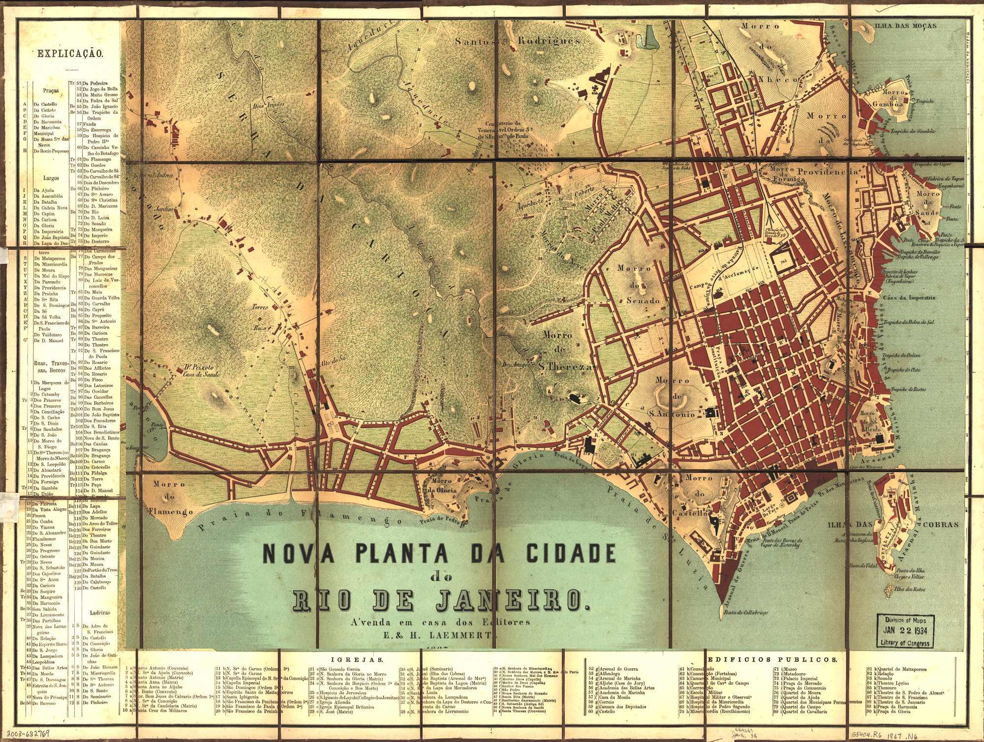 Rio de Janeiro Map 1867 - Rio de Janeiro Brazil • mappery