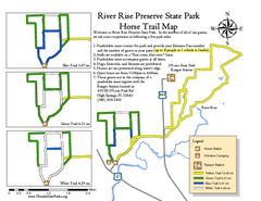 River Rise Preserve State Park Horse Trail Map