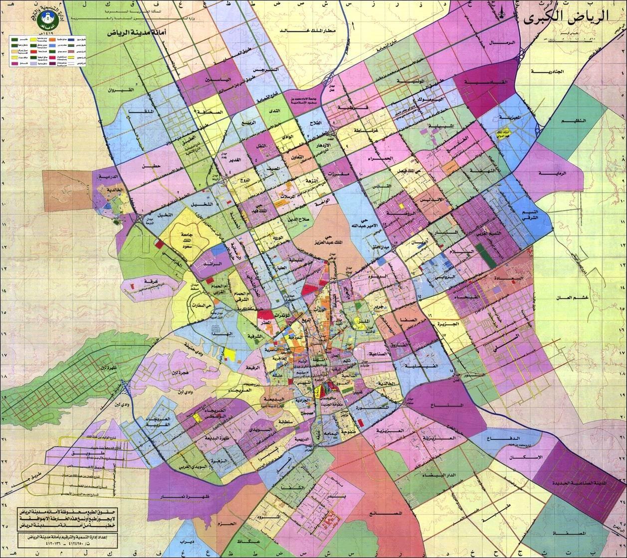 Riyadh map Zahrat Laban Saudi Arabia mappery