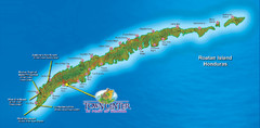 Roatan Island Tourist Map