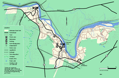 Robinson State Park trail map