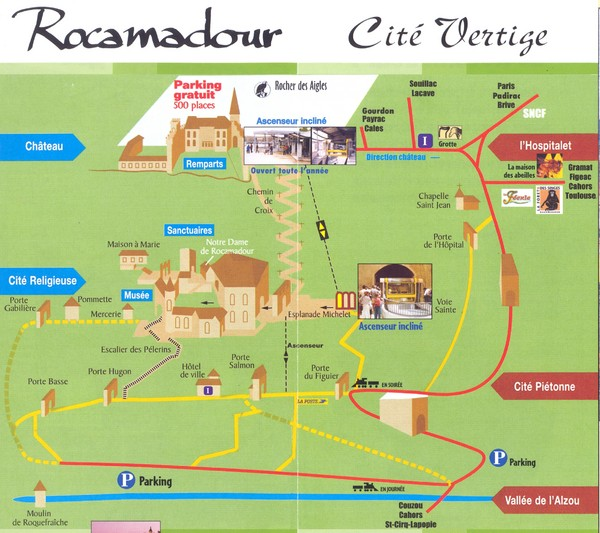 Rocamadour Map