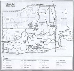 Rock Cut State Park, Illinois Site Map