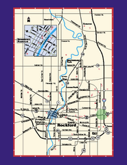 Rockford, Illinois Map