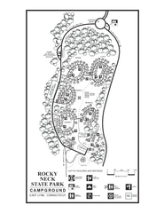 Rocky Neck State Park campground map