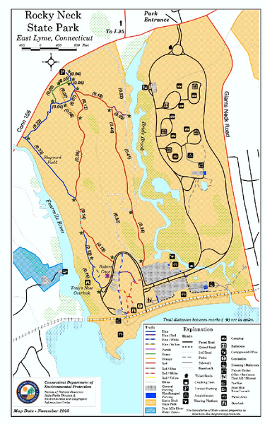 Rocky Neck State Park trail map