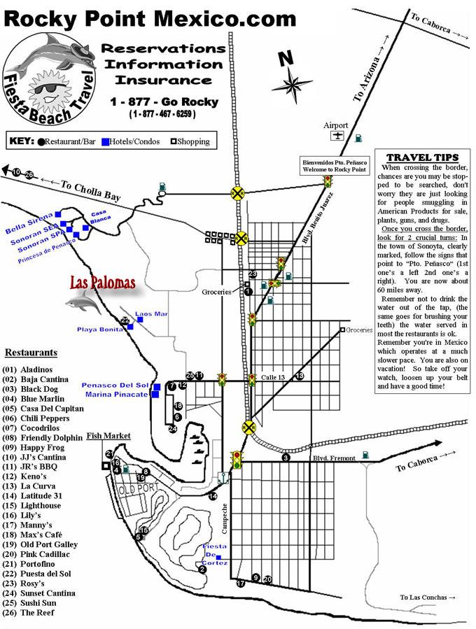 Rocky Point New Mexico Tourist Map Rocky Point New