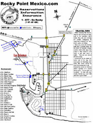 Rocky Point, New Mexico Tourist Map