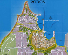 Rodos City Map