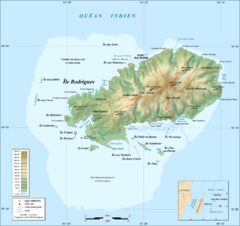 Rodrigues Island Topo Map
