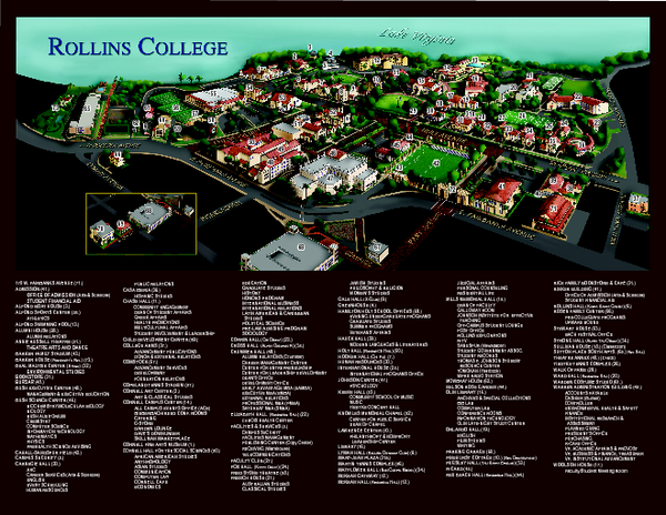 rollins college campus map Rollins College Map Mappery rollins college campus map