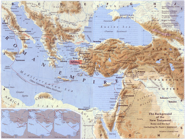 Roman Empire Historical Map