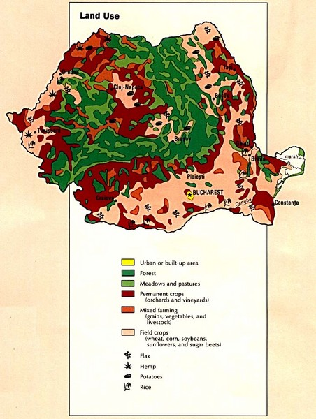 Romania Land Use Map
