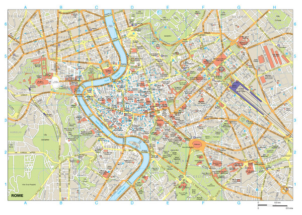 Rome Buildings Map - Rome Italy • mappery