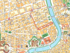 Rome City Tourist Map