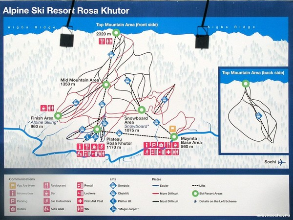Rosa Khutor Ski Trail Map