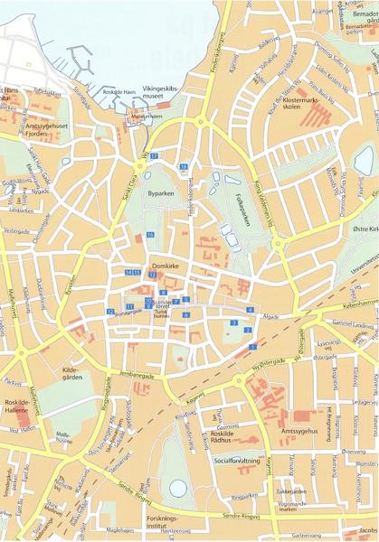 Roskilde Map Roskilde dk mappery