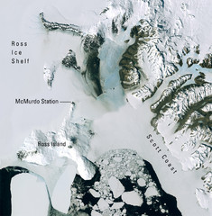 Ross Island McMurdo Station Area Landsat Map