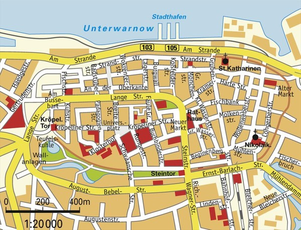 Rostock Center Map