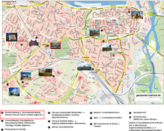 Rostock Tourist map