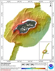 Rota island bahtymetric Map