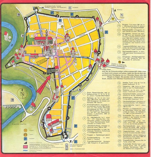 Rothenburg Tourist Map