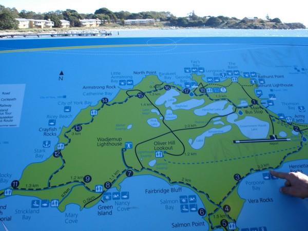 Rottnest Island Map Rottnest Island mappery