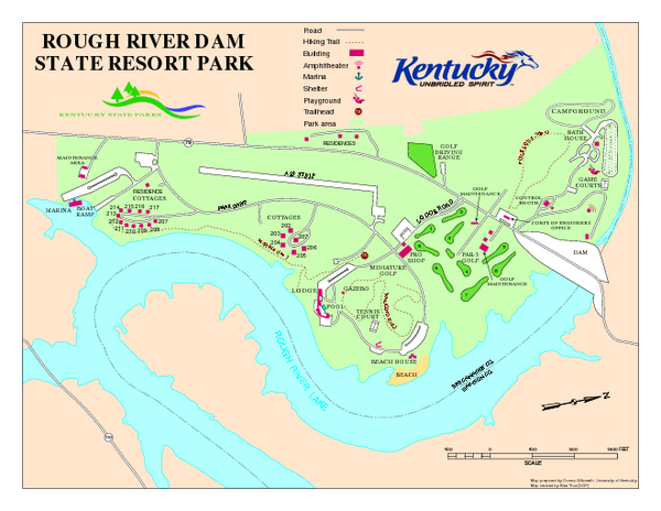 Fullsize Rough River Dam State Resort Park Map