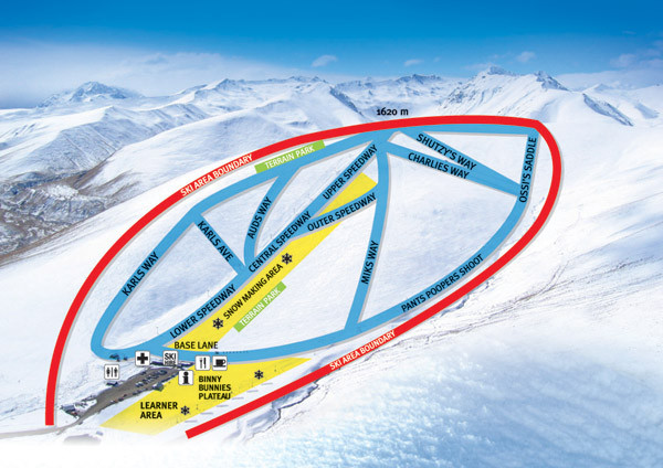 Roundhill Ski Trail Map