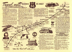 Route 66 Chicago, IL to Springfield, MI Map