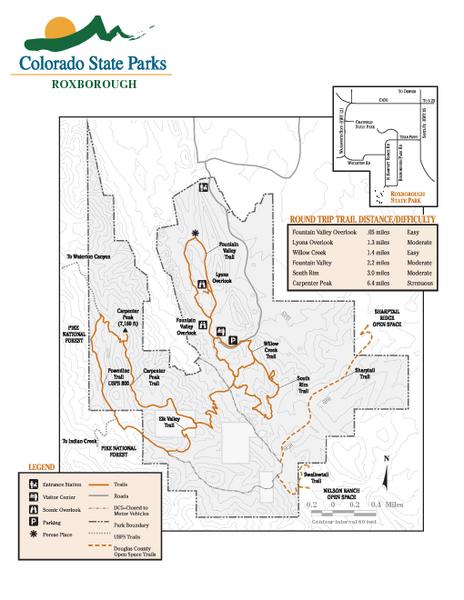 colorado national parks map pdf