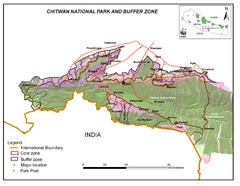 Royal Chitwan National Park Nepal Map
