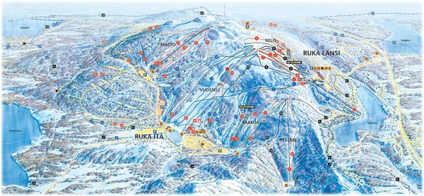 Ruka Ski Trail Map