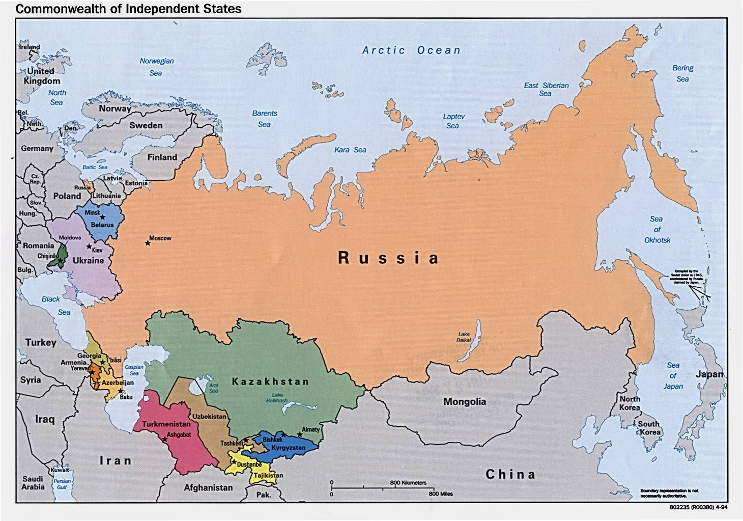 Russia Northern China And Northern Asia Map Russia Mappery - Map of russia
