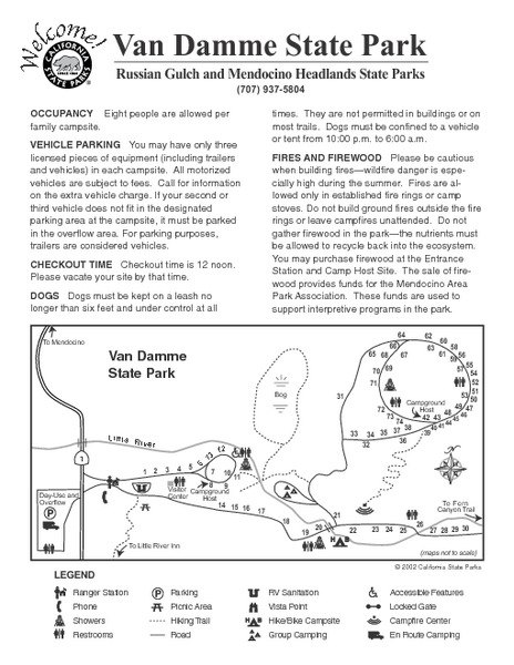 Russian Gulch State Park Campground Map
