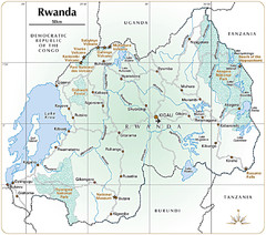 Rwanda Parks and Rainforest Map