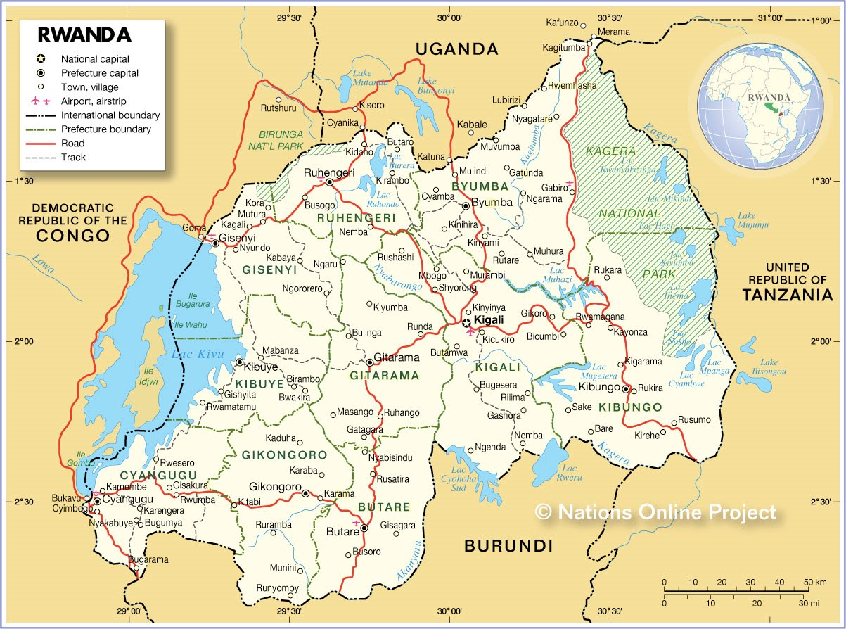 rwanda geographie