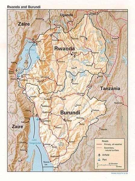 Rwanda Topographic Map Rwanda Africa mappery
