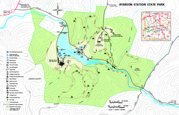 Ryerson Station State Park map