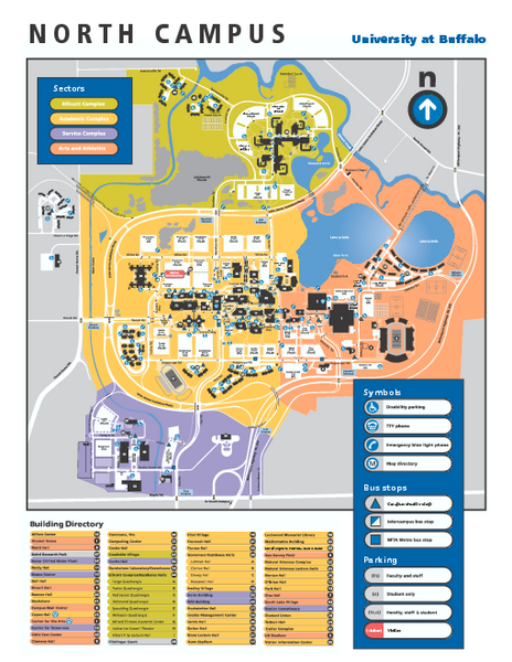 university at buffalo campus map Suny At Buffalo North Campus Map Buffalo New York Mappery university at buffalo campus map