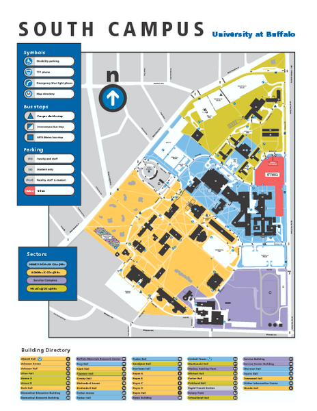 university at buffalo campus map Suny At Buffalo South Campus Map Buffalo New York Mappery university at buffalo campus map