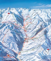 Saalbach and Hinterglemm Winter walks map