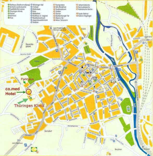 Saalfeld Tourist Map Saalfeld Germany mappery