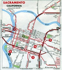 Sacramento, California City Map