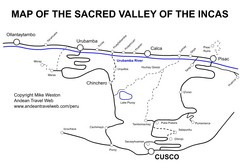 Sacred Valley Tourist Map