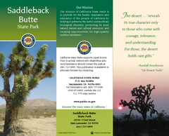 Saddleback Butte State Park Map