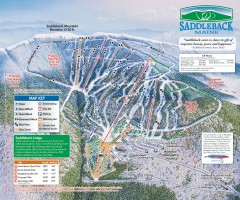 Saddleback Ski Trail Map