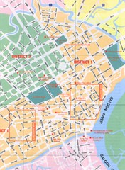 Saigon Vietnam City map