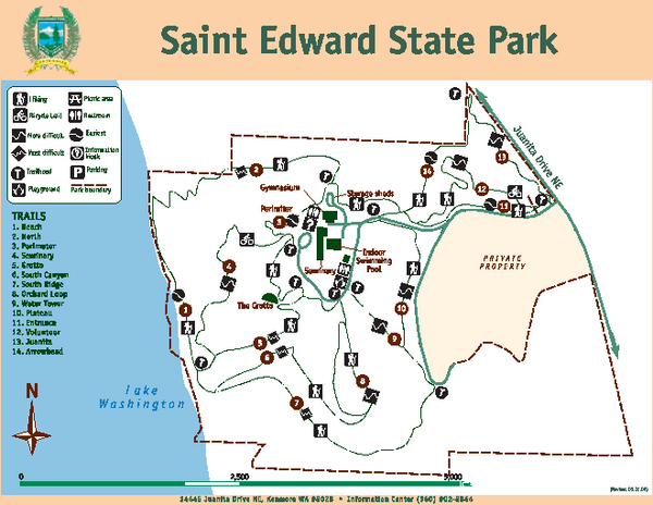 Saint Edward State Park Map