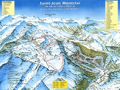 Saint-Jean Montclar Ski Trail Map